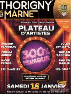 Plateau 300 % Humour : Le 4ème ! Centre Culturel Le Moustier